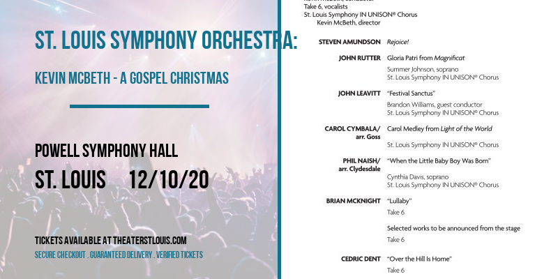 St. Louis Symphony Orchestra: Kevin McBeth - A Gospel Christmas at Powell Symphony Hall